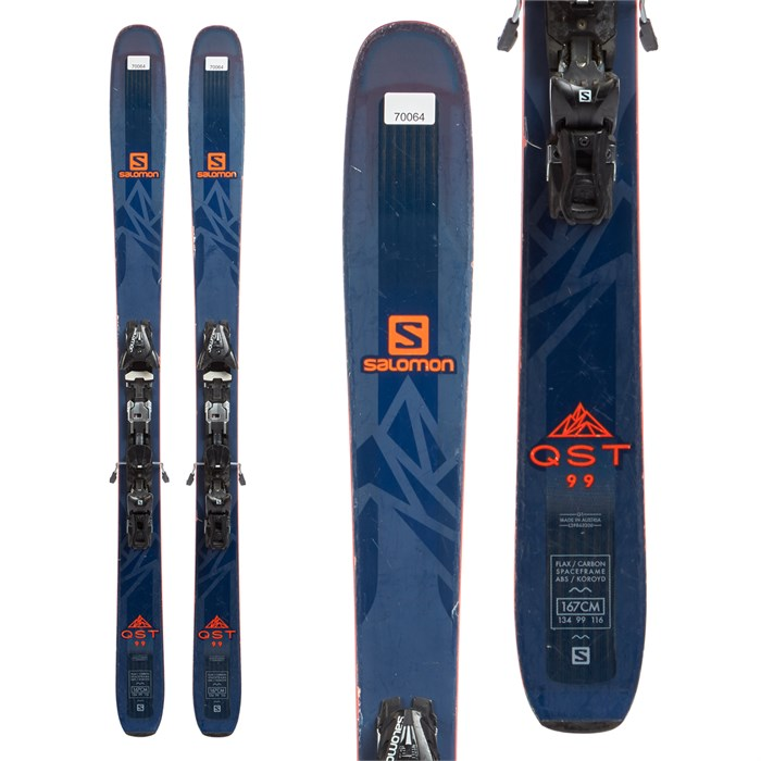Salomon QST 99 Skis + Salomon Z12 Bindings 2018 - Used