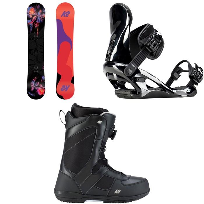 K2 - First Lite Snowboard - Women's + K2 Cassette Snowboard Bindings - Women's + K2 Belief Snowboard Boots - Women's 2019