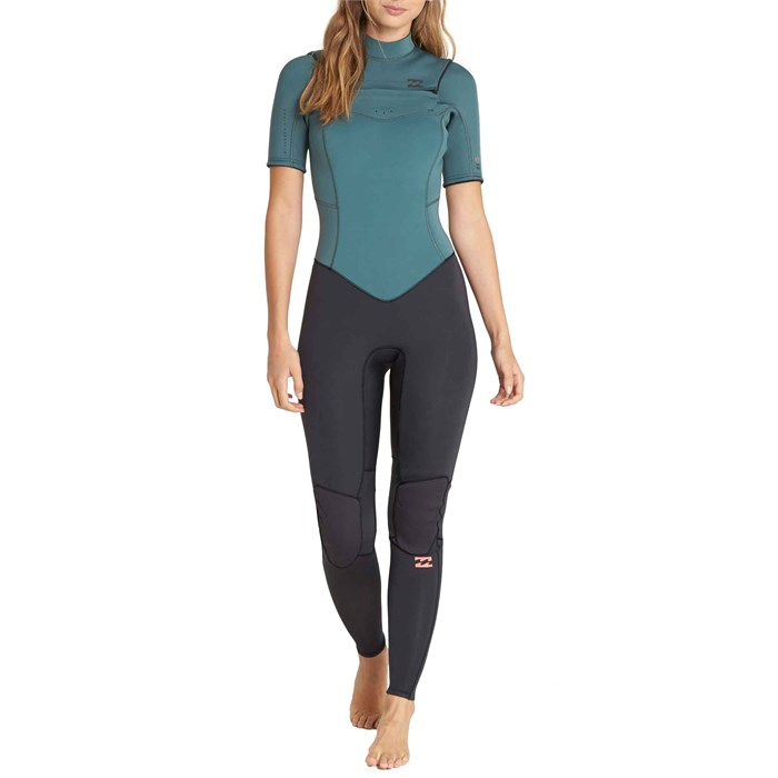 Billabong - 2mm Furnace Synergy Chest Zip Short Sleeve Fullsuit - Women's
