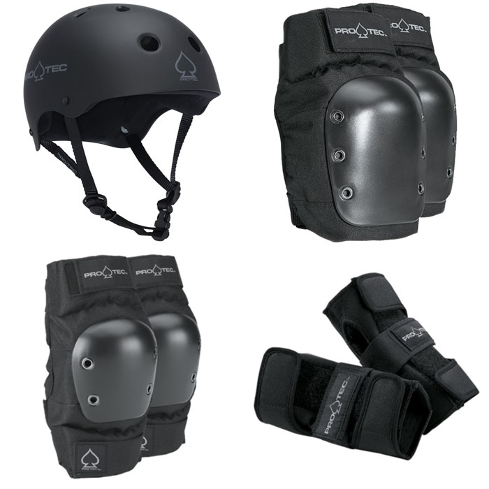 Pro-Tec - The Classic Certified EPS Helmet + Pro-Tec Street Knee Pads + Pro-Tec Street Elbow Pads + Pro-Tec Street Wrist Pads