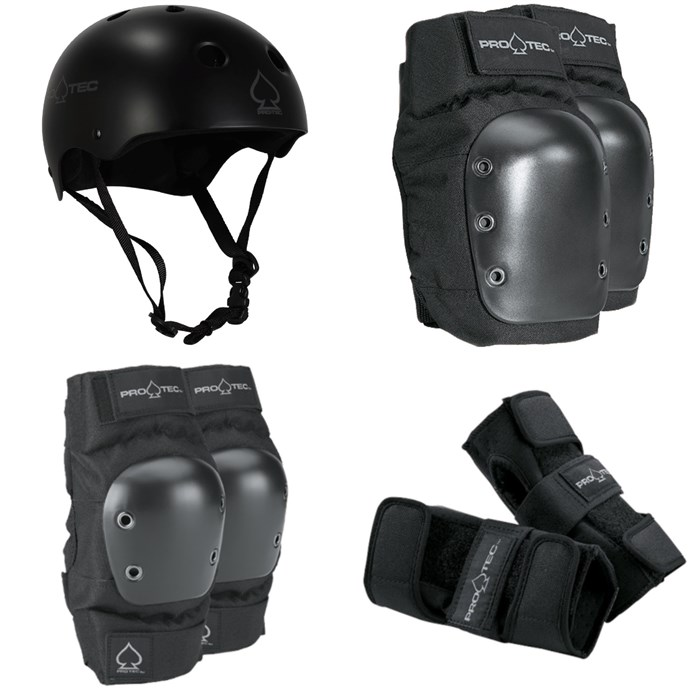 Pro-Tec - Classic Skate Helmet + Pro-Tec Street Knee Pads + Pro-Tec Street Elbow Pads + Pro-Tec Street Wrist Pads