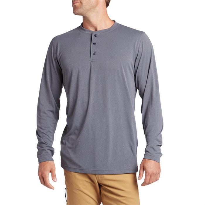 evo - Ballard Active Henley Long-Sleeve T-Shirt
