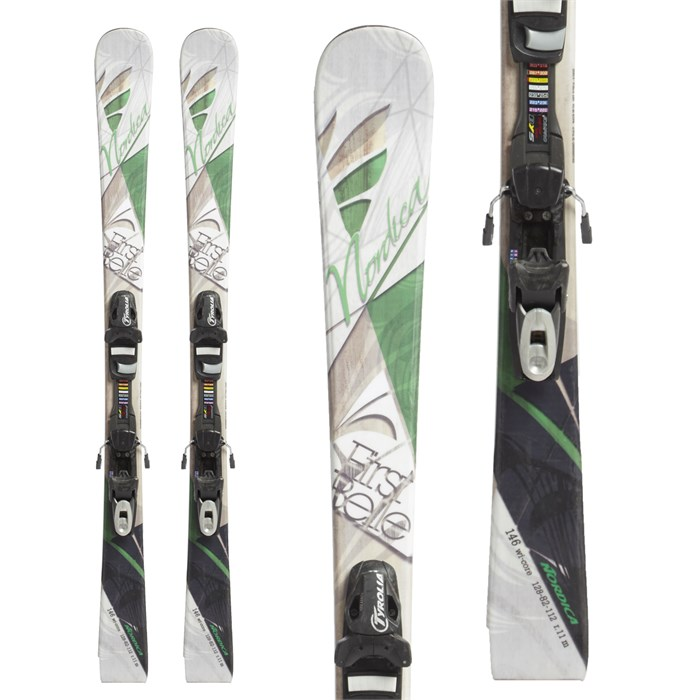 Nordica - First Belle Skis + Tyrolia SP 7.5 Bindings - Girls' 2015 - Used