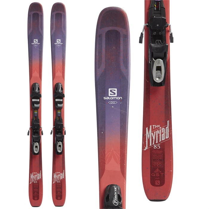 Salomon - QST Myriad 85 Skis + Tyrolia SP 7.5 Bindings - Girls' 2018 - Used