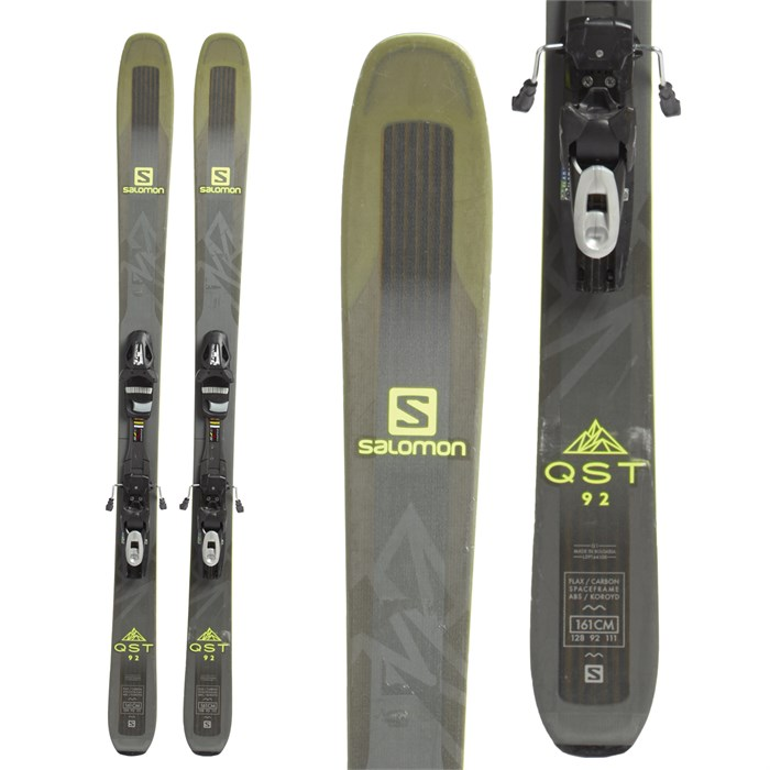 Salomon - QST 92 Skis + Tyrolia SP 10 Bindings 2018 - Used