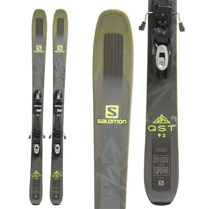 Used Ski Gear Evo Com >> Salomon Qst 92 Skis Tyrolia Sp 10 Bindings 2018 Used