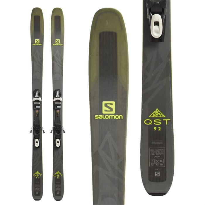 Salomon - QST 92 Skis + Tyrolia SP 13 Bindings 2018 - Used