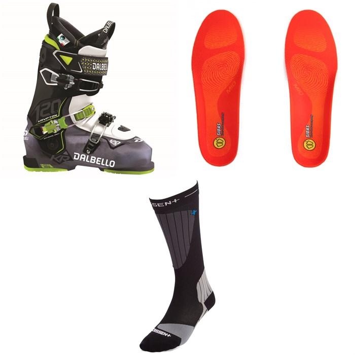 Dalbello - Krypton AX 120 Ski Boots + Sidas Winter 3 Feet Mid Footbeds + Dissent Ski GFX Compression Hybrid Protect Socks