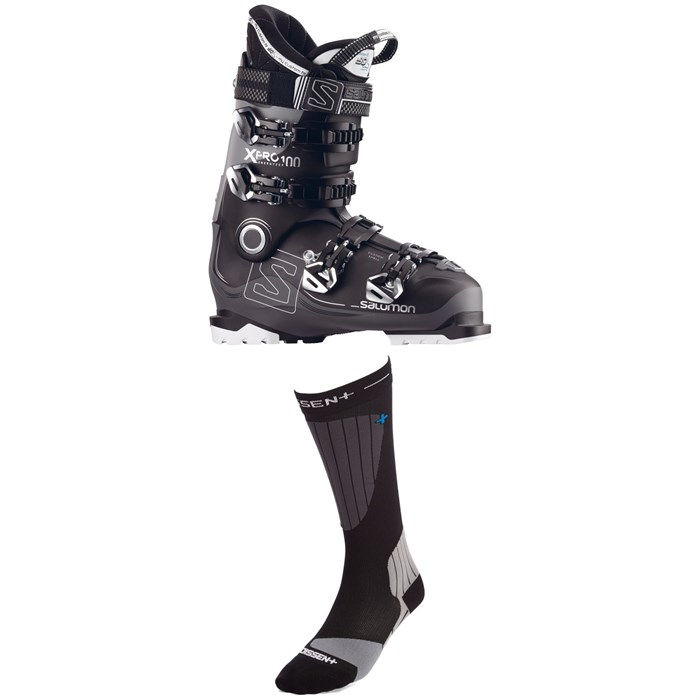 Salomon - X Pro 100 Ski Boots + Dissent Ski GFX Compression Hybrid Protect Socks