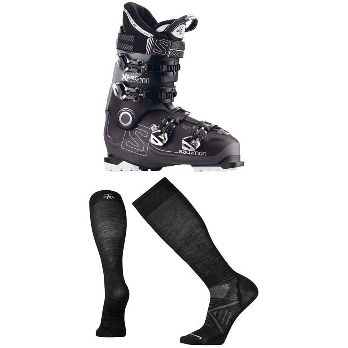 Salomon - X Pro 100 Ski Boots 2017 + Smartwool PhD Ski Ultra Light Socks