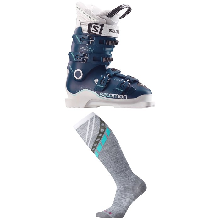 Salomon - X Max 90 W Ski Boots - Women's + Smartwool PhD Ski Ultra Light Pattern Socks - Women's