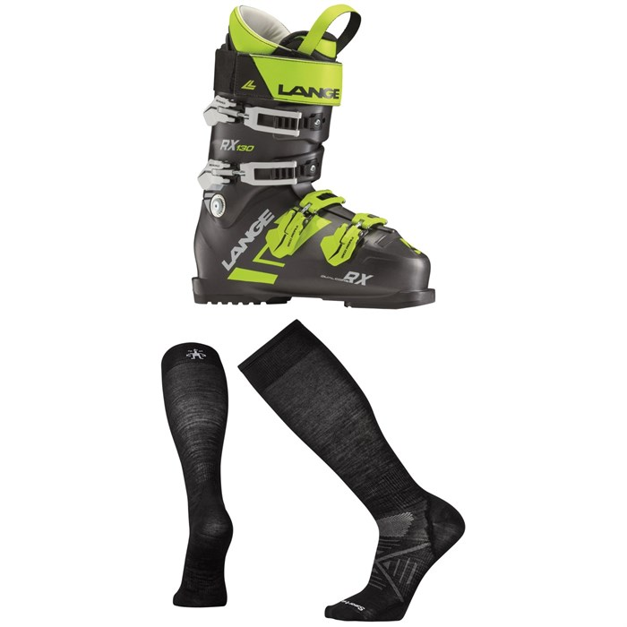 Lange - RX 130 Ski Boots + Smartwool PhD Ski Ultra Light Socks