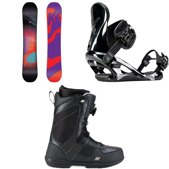 K2 - Bright Lite Snowboard - Women's + K2 Cassette Snowboard Bindings - Women's + K2 Belief Snowboard Boots - Women's 2019