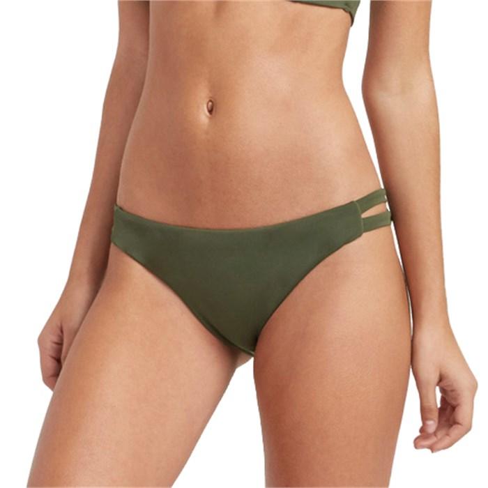 RVCA - Solid Full Tab Side Bikini Bottoms - Women's