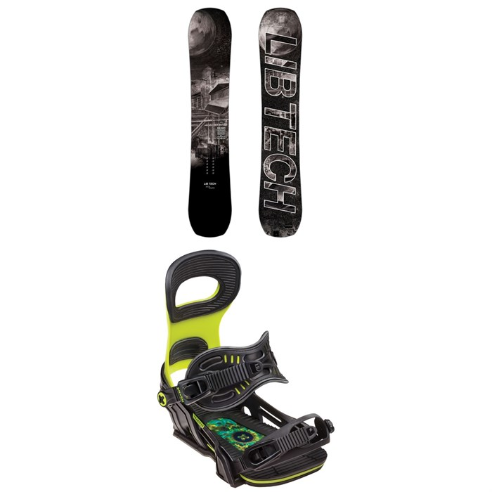 Lib Tech - Box Knife C3 Snowboard + Bent Metal Transfer Snowboard Bindings 2019
