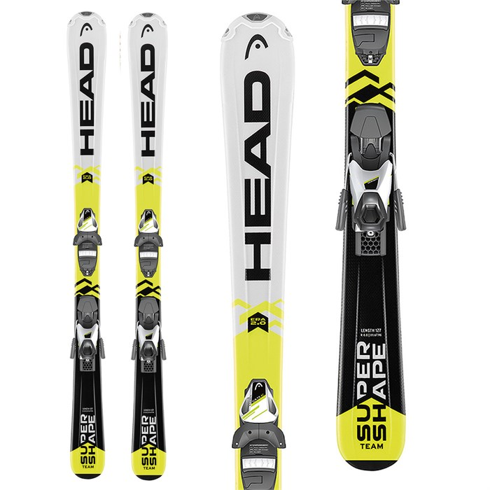 Head Supershape Team Skis + SLR 7.5 Bindings