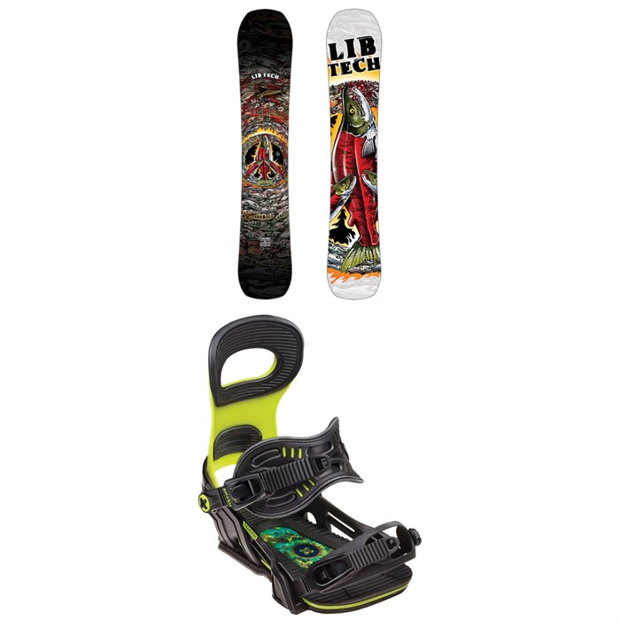 Lib Tech - EJack Knife HP C3 Snowboard + Bent Metal Transfer Snowboard Bindings 2019