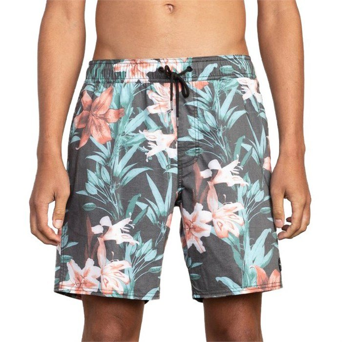 "RVCA - Montague Elastic 17"" Swim Trunks"