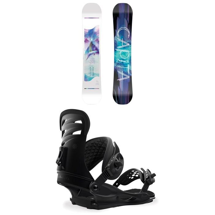 CAPiTA - Space Metal Fantasy Snowboard - Women's + Union Rosa Snowboard Bindings - Women's 2019