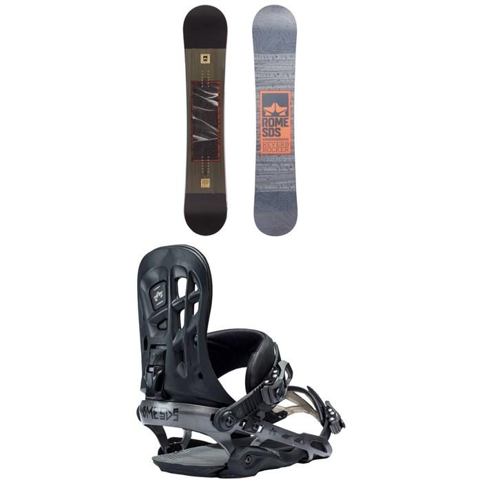 Rome - Reverb Rocker SE Snowboard + Rome 390 Boss Snowboard Bindings 2018