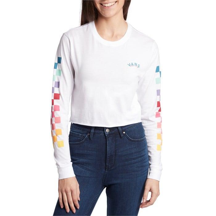 62e32740afaa Vans - Rain Checks Long-Sleeve Crop T-Shirt - Women's ...
