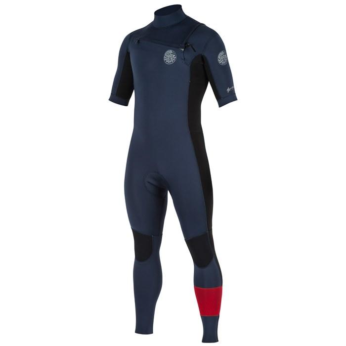Rip Curl - 2mm Aggrolite Short Sleeve Chest Zip Wetsuit