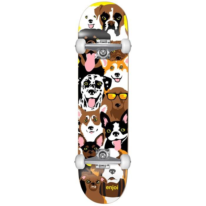 Enjoi - Dog Collage Youth 7.375 Skateboard Complete - Kids'