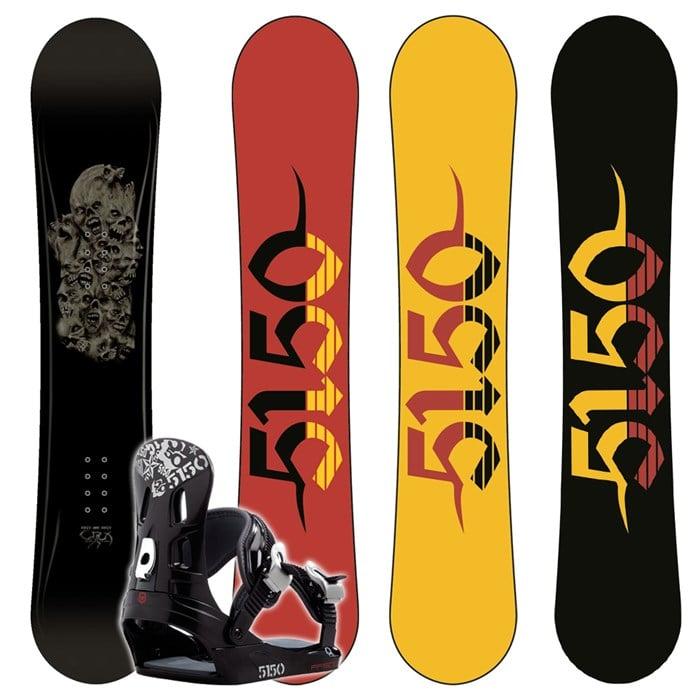 5150 Crux Wide Snowboard + FF1500 (Black) Bindings 2008