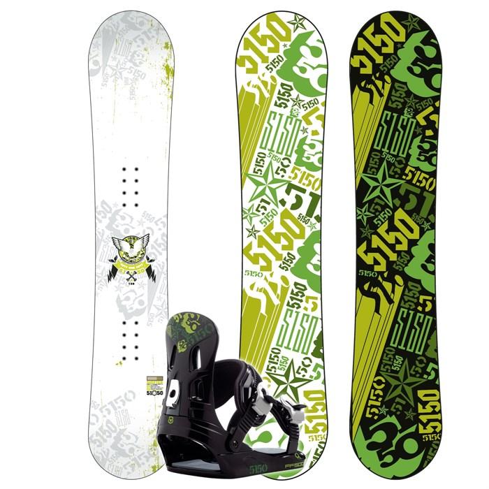 5150 Shifter Snowboard + FF1500 (Camo) Bindings 2008