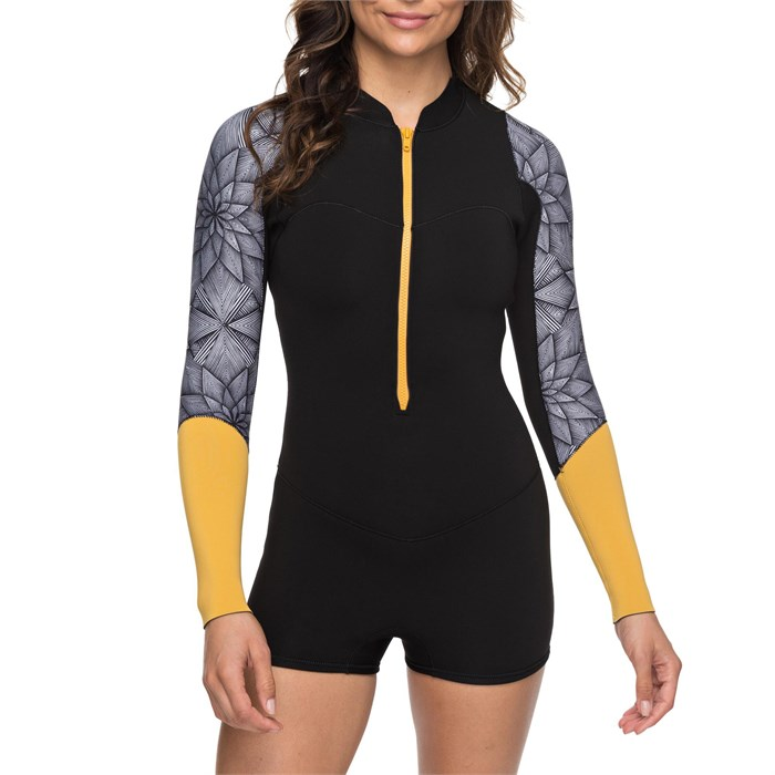 Roxy - 2mm Pop Surf Long-Sleeve Front Zip Springsuit - Women's