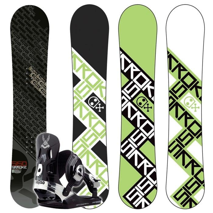 5150 Stroke Wide Snowboard + FF2000 (Black) Bindings 2008