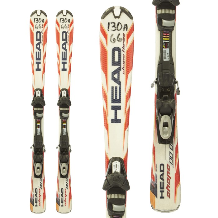 Head Shape 3 Skis Tyrolia Sp100 Ski Bindings 2010 Used