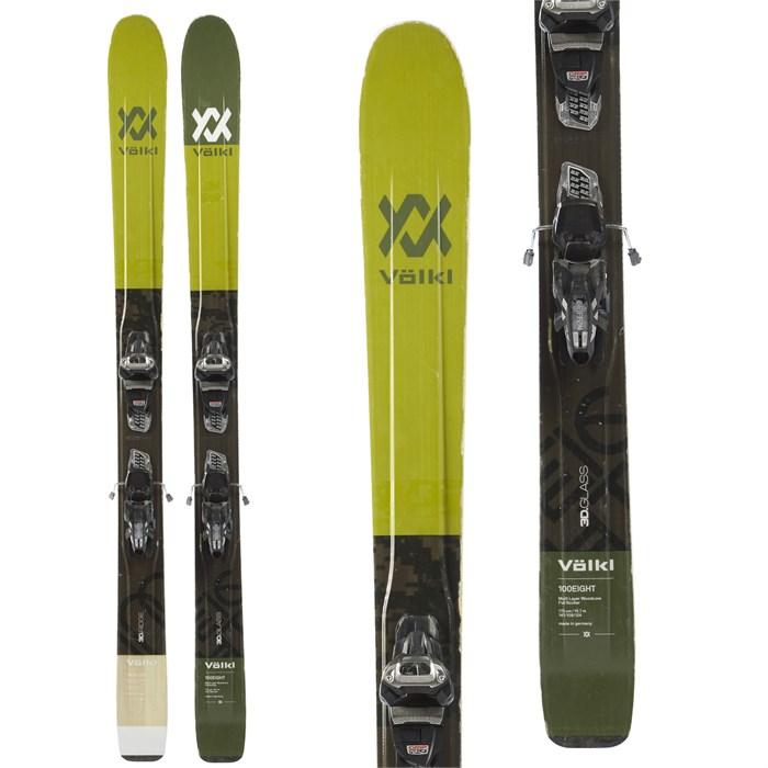 Volkl 100Eight Skis + Marker Griffon Demo Bindings 2018