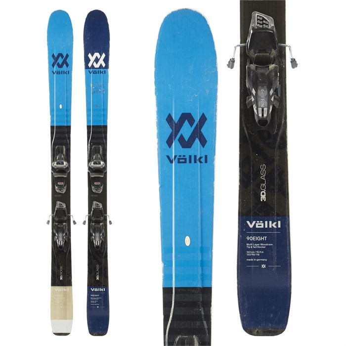 Volkl 90Eight Skis + Marker Griffon Demo Bindings 2018