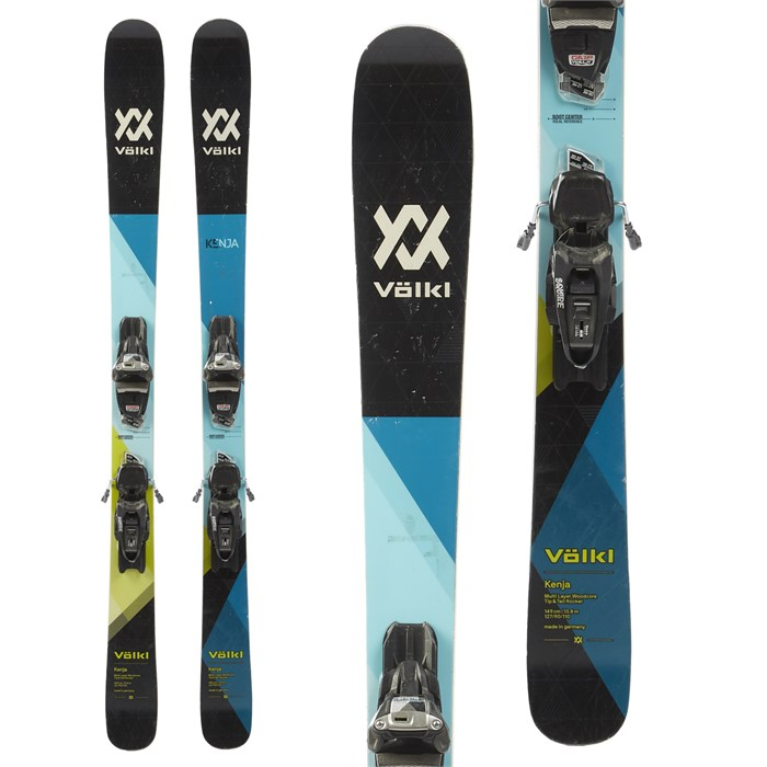 Volkl Kenja Skis + Marker Squire Demo Bindings