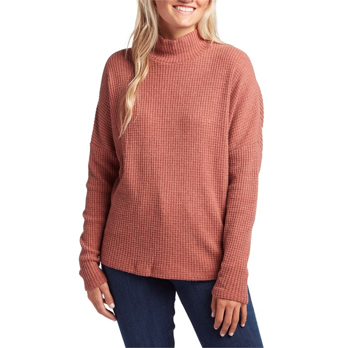 Z Supply - The Mock Neck Waffle Thermal Top - Women's