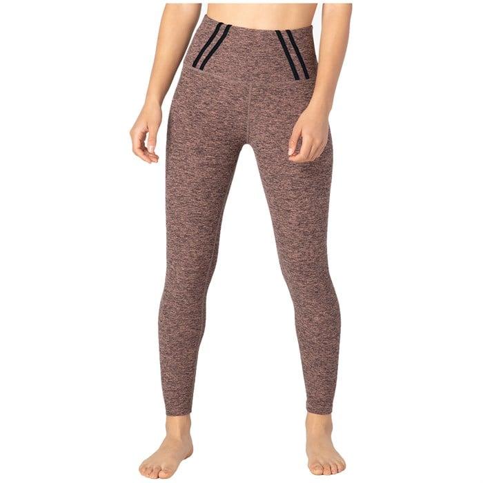 Beyond Yoga - Stripe Down High Waisted Midi Leggings - Women's