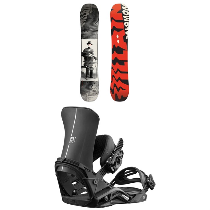 Salomon - The Villain Snowboard 2019 + Salomon District Snowboard Bindings 2019