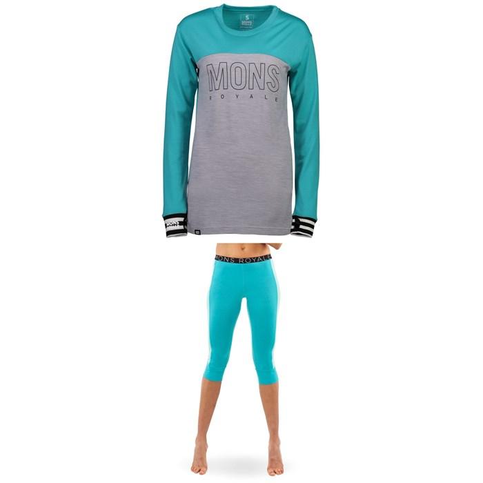 MONS ROYALE - Yotei BF Tech Long-Sleeve Shirt + Alagna 3/4 Leggings - Women's