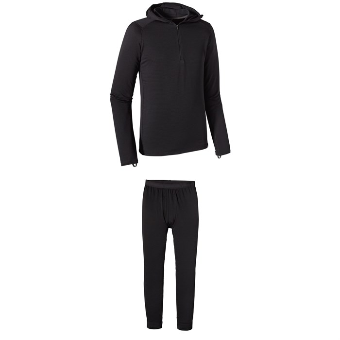 Patagonia - Capilene® Thermal Weight Zip-Neck Hoodie + Patagonia Capilene® Thermal Weight Bottoms