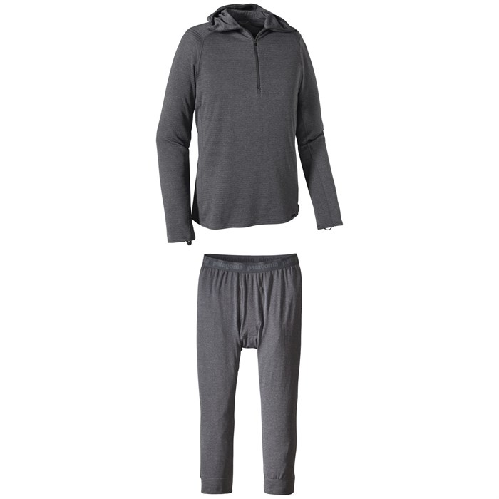Patagonia - Capilene® Thermal Weight Zip-Neck Hoodie + Patagonia Capilene™ Thermal Weight Boot-Length Pants