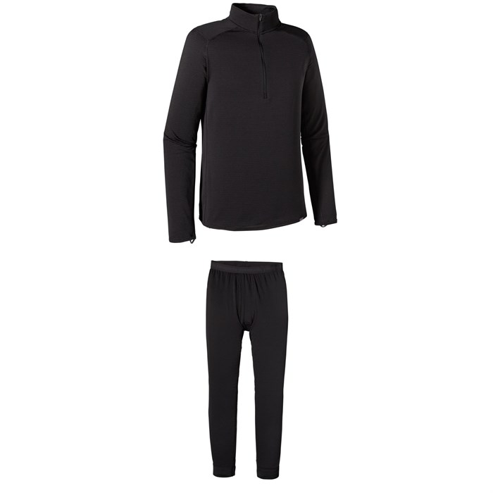Patagonia - Capilene® Thermal Weight Zip-Neck Top + Thermal Weight Bottoms