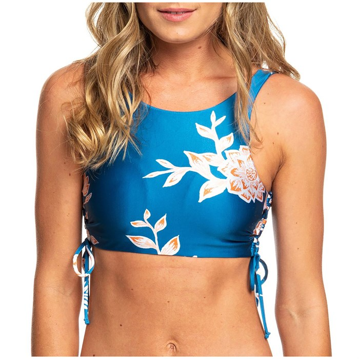 Roxy - Riding Moon Crop Top Bikini Top - Women's