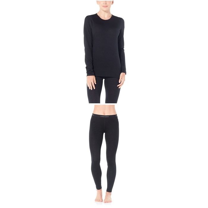 Icebreaker - Oasis 200 Baselayer Crew Top + Oasis 200 Baselayer Bottoms - Women's