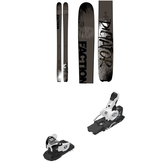 Faction - Dictator 2.0 Skis + Salomon Warden MNC 13 Ski Bindings 2019