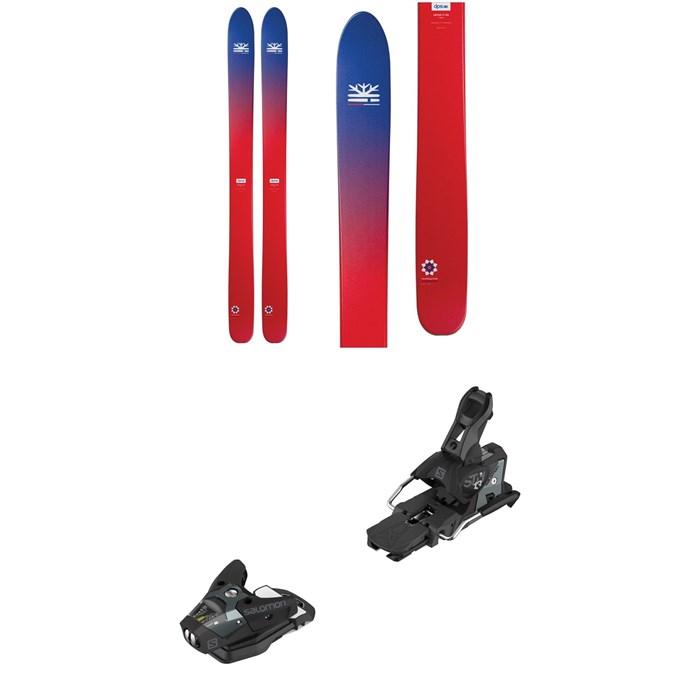 DPS - Lotus 124 Foundation Skis + Salomon STH2 WTR 13 Ski Bindings 2019