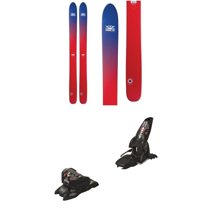 DPS - Lotus 124 Foundation Skis + Marker Jester 16 ID Ski Bindings 2019
