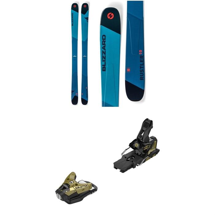 Blizzard - Rustler 10 Skis + Salomon STH2 WTR 16 Ski Bindings 2019