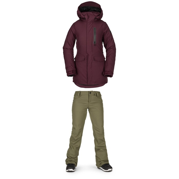 Volcom - Shelter 3D Stretch Jacket + Volcom Species Stretch Pants - Women's