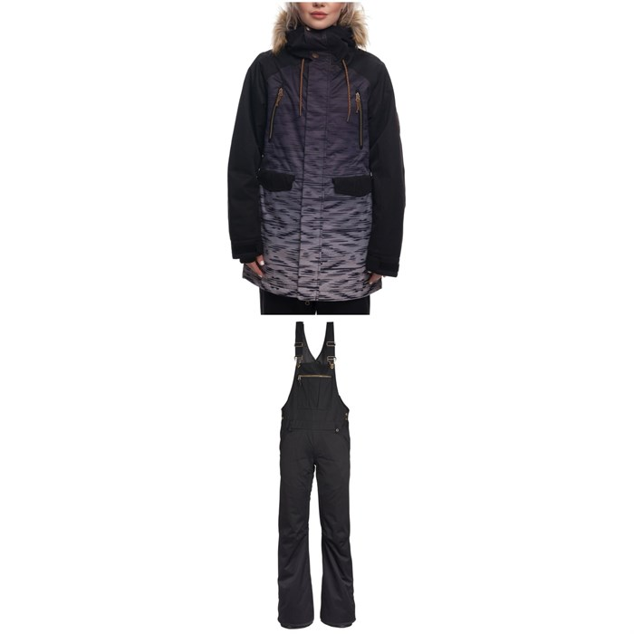 686 - Ceremony Insulated Jacket + Black Magic Insulated Overalls - Women's